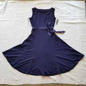 NWT royal blue a line fit and flare dress
